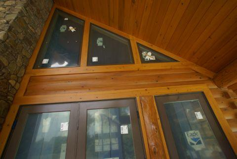 Custom log home windows