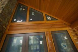 Custom log home windows
