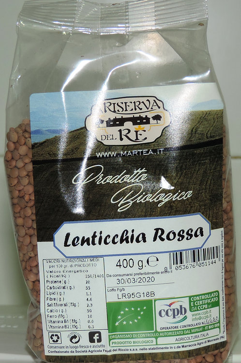 LENTICCHIA ROSSA BIOLOGICA BIOLOGICO BIO  400 g