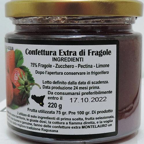 confettura extra di fragole 220 g