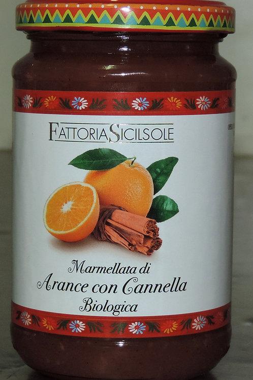 MARMELLATA ARANCE CON CANNELLA BIOLOGICA (Sicilia che gusto ) 370 g