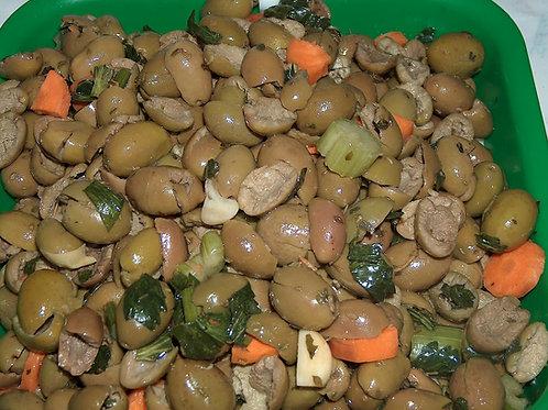 olive verdi schiacciate CASERECCE SICILIA 250g