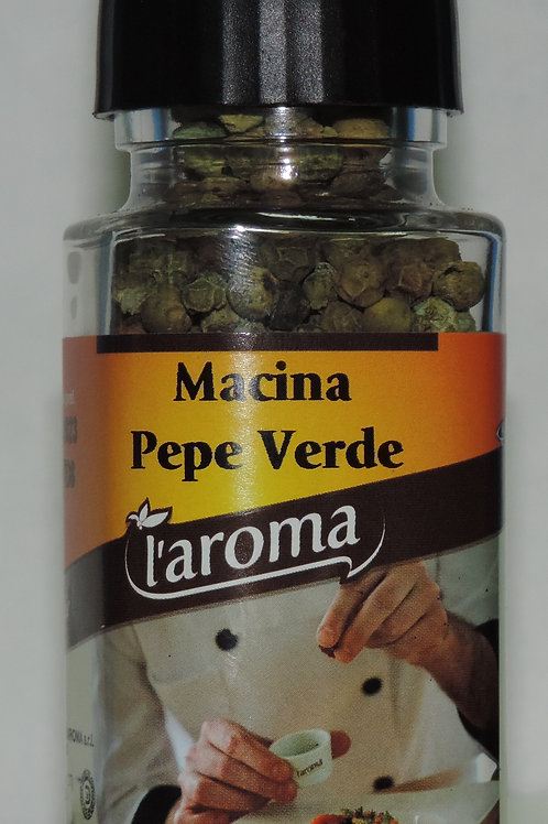 pepe verde macina bottiglietta vetro con macinino ( Siciliachegusto ) 43 g