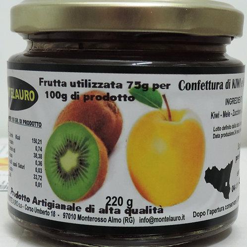 confettura extra di kiwi e mela prodotto artigianale di alta qualità 220 g