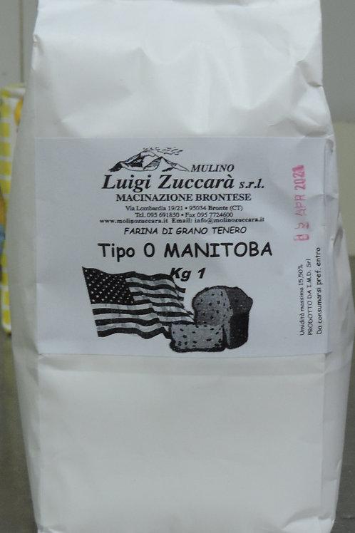 """Farina Manitoba di grano tenero tipo """"0"""" 1 kg"""