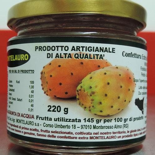 confettura extra di fichidindia prodotto artigianale di alta qualità 220 g