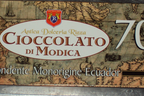 CIOCCOLATO DI MODICA FONDENTE MONO ORIGINE ECUADOR 70% DAL 1935 SICILIA 100 G