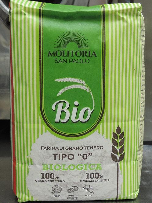 Farina tipo zero biologica grano 100 % ( sicilia che gusto ) 1 kg