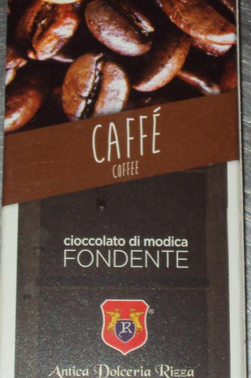 CIOCCOLATO DI MODICA AL CAFFE' DOLCERIA RIZZA DAL 1935 SICILIA 100 G