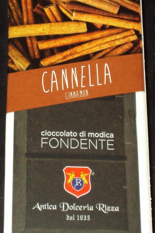 CIOCCOLATO DI MODICA ALLA CANNELLA DOLCERIA RIZZA DAL 1935 SICILIA 100 G