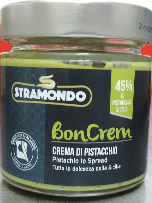 Crema spalmabile pistacchio Sicilia 45 % senza glutine senza olio di pa 200g