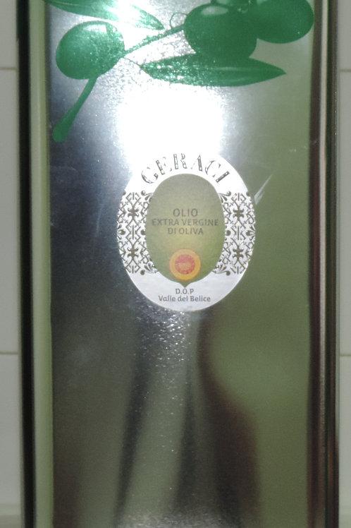 """olio extravergine d'oliva di oliva """"Nocellara del Belice DOP"""" GERACI sicilia 5L"""