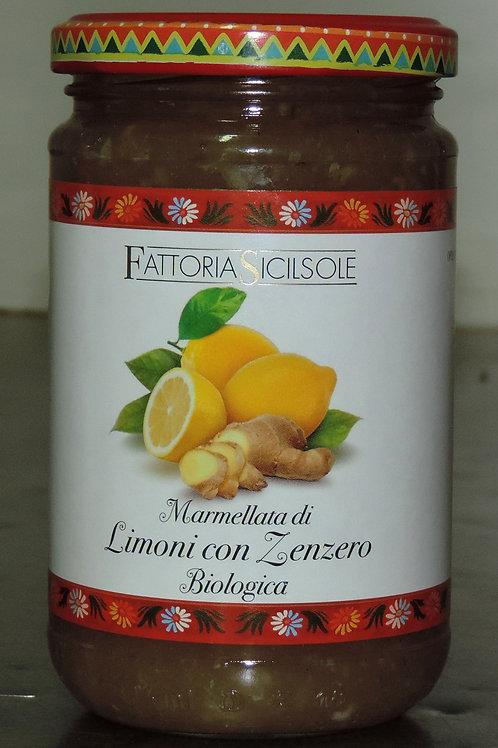 MARMELLATA LIMONE E ZENZERO  BIO   (Sicilia che gusto ) 370 g