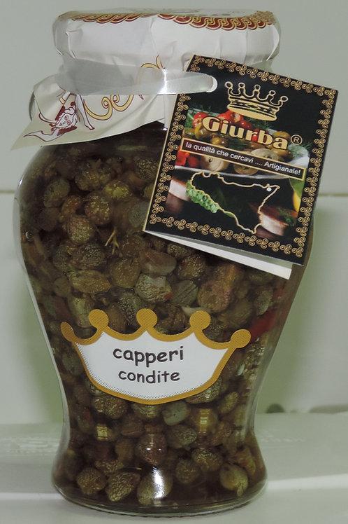 CAPPERI CONDITI CON OLIO EXTRAVERGINE D' OLIVA 314 G