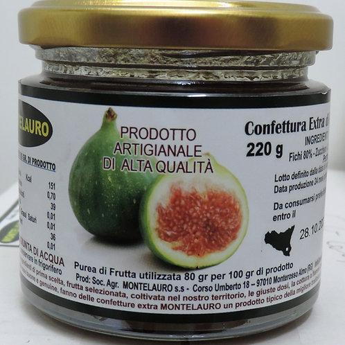 confettura extra di fichi prodotto artigianale di alta qualità 220 g