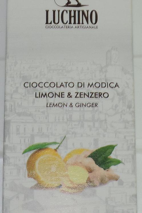CIOCCOLATO DI MODICA LIMONE & ZENZERO LUCHINO SICILIA 100 G