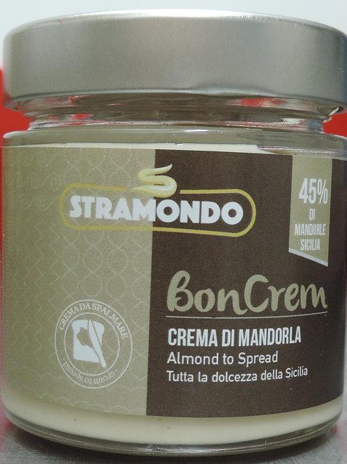 Crema spalmabile mandorla Sicilia 45 % senza glutine senza olio di pa 200g