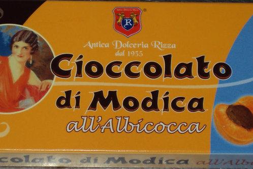 CIOCCOLATO DI MODICA ALL' ALBICOCCA ANTICA DOLCERIA RIZZA DAL 1935 SICILIA 60 G