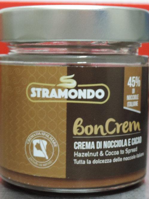 Crema spalmabile nocciola italiana 45% e cacao senza glutine senza o 200g