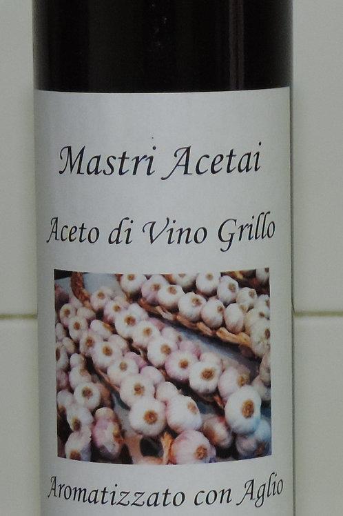 ACETO GRILLO AROMATIZZATO AGLIO MASTRI ACETAI IGT TERRESICILIANE SICILIA 25CL