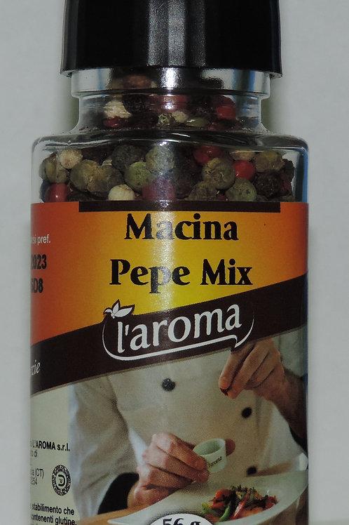 pepe mix ( pepe rosa,nero, bianco e verde )CON MACININO INCORPORATO 56 G