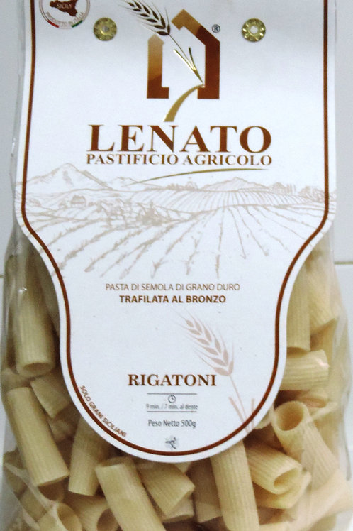PASTA RIGATONI GRANO DURO SICILIANO LENATO PAST. AGRICOLO SICILIA 500 G