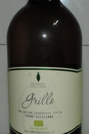 VINO BIANCO GRILLO BIOLOGICO 2015 DOMINA MICCINA I.G.P. SICILIA 750 ML 12,5 VOL