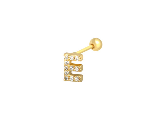 Gold Initial Stud