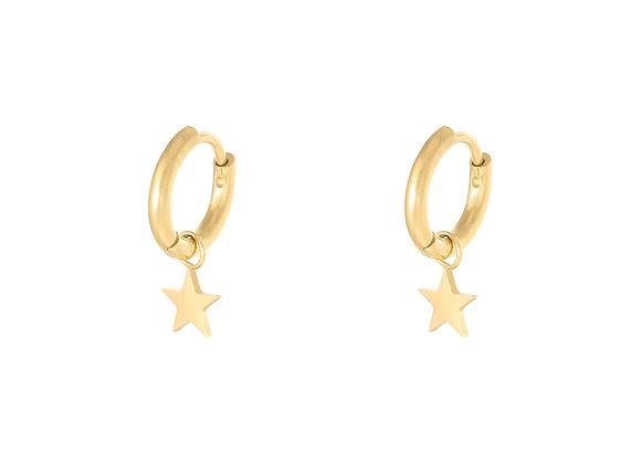 Star Drop silver/gold Earring