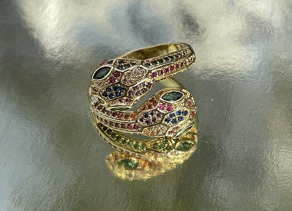 Rainbow Snake Ring
