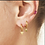 Thumbnail: Star Drop silver/gold Earring