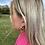 Thumbnail: Silver Nicole Hoop Earrings