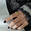 Thumbnail: Adjustable Hollow Heart Ring GOLD/SILVER