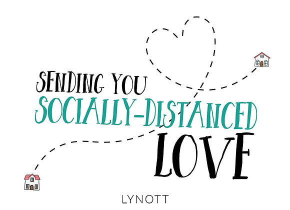 Sending You Socially Distanced Love Greeting Card