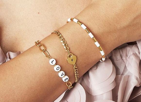 Gold Lotty Love Lock Bracelet
