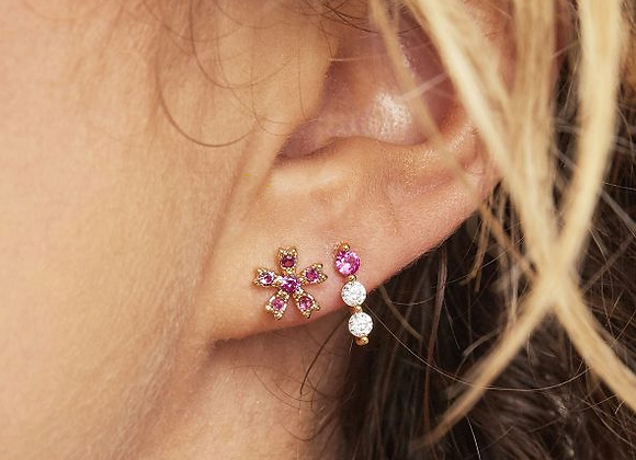 Ruby Rose Stud Earrings