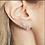 Thumbnail: Single Sparkly Heart Stud Earring