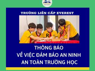 Thông báo về việc đảm bảo an ninh an toàn trường học