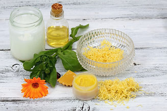 Homemade lip balm made from beeswax and
