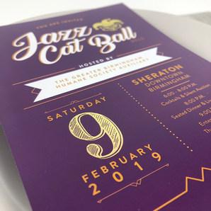 Gold Foil Invitations