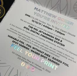 DMS Color | Variable Data Invitation Printing
