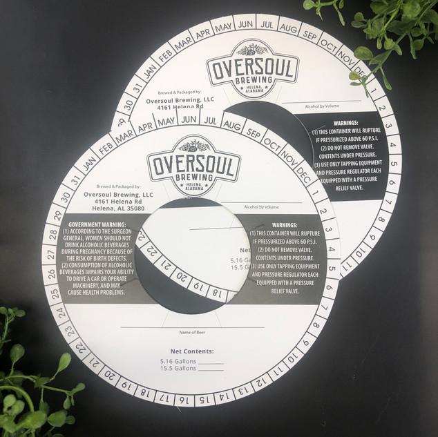 Oversoul Brewing | Keg Collar Printing
