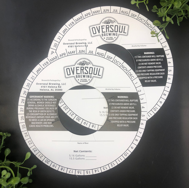Oversoul Brewing | Keg Collar Printing