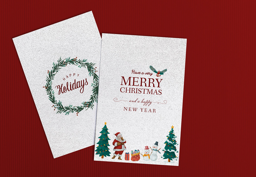 Create, Print, and Ship corporate holiday cards at DMS Color