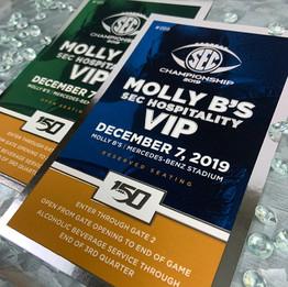 SEC   Silver Foil Ticket Printing