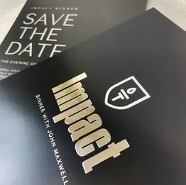Impact | Silver Foil Invitation Printing