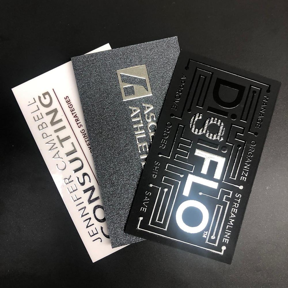 Use foil and varnish to make business cards that stand out from the rest