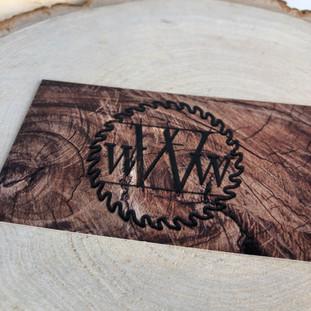 Wright Wood Works | Raised Varnish Business Card