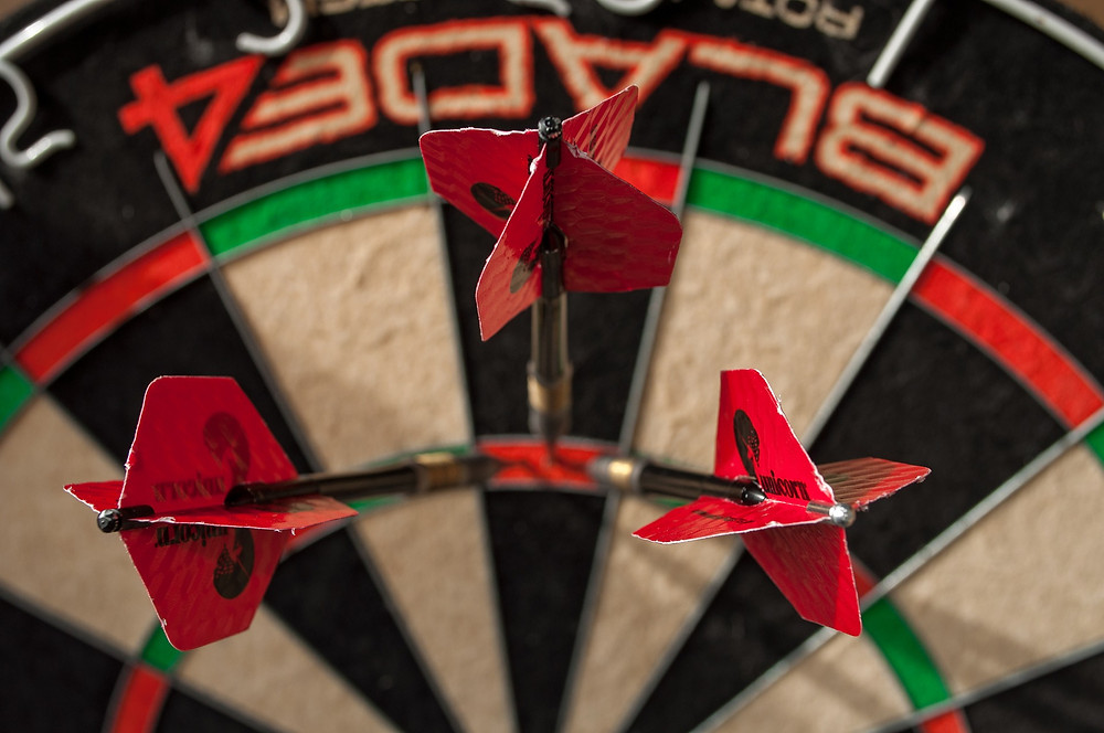 Like darts, in branding, consistency is key