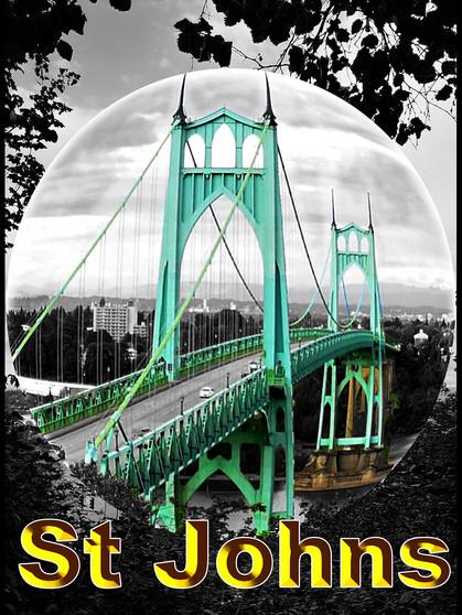 Iconic St Johns Bridge